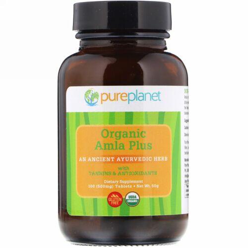 Pure Planet, オーガニックアムラプラス(Organic Amla Plus), 500 mg, 100錠