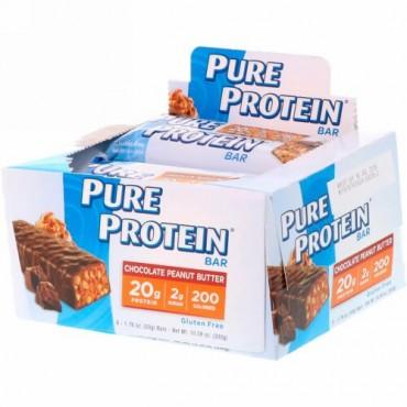 Pure Protein, チョコレートピーナッツバター・バー、6本、各1.76オンス(50 g)