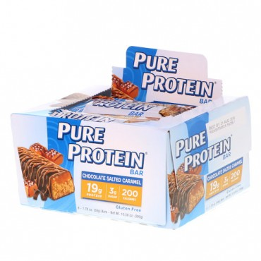 Pure Protein, チョコレート塩キャラメル・バー, 6本, 各1.76オンス (50 g)
