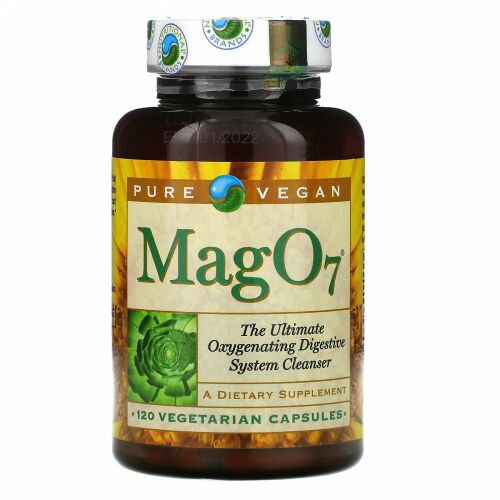 Pure Vegan, Mag 07, The Ultimate Oxygenating Digestive System Cleanser, 120 Vegetarian Capsules