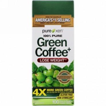 Purely Inspired, グリーンコーヒー+、飲みやすい植物性タブレット100粒