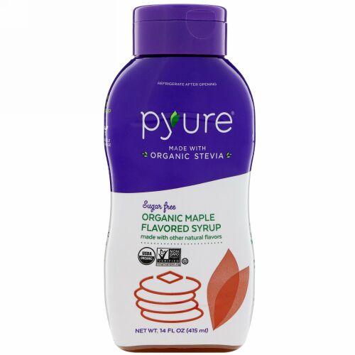 Pyure, オーガニック無糖メイプル味、14 fl oz (415 ml)
