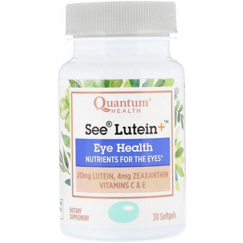 Quantum Health, シールテイン+、目の健康、ソフトジェル30個 (Discontinued Item)