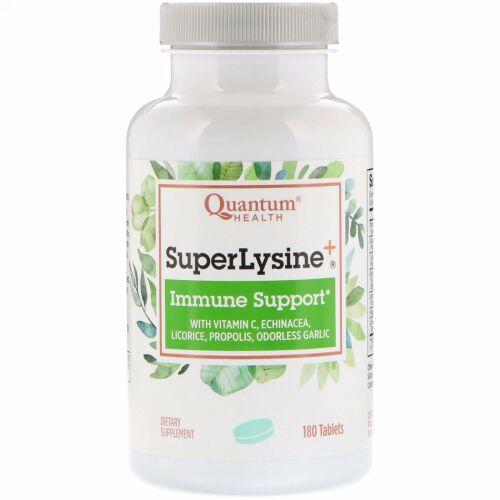 Quantum Health, スーパーリシン+、免疫サポート、180錠