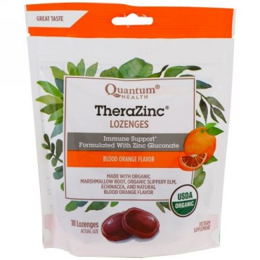 Quantum Health, テラジング、ロゼンジ、ブラッドオレンジ風味、ロゼンジ18錠 (Discontinued Item)