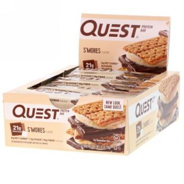 Quest Nutrition, プロテインバー, スモア・フレーバー, 12 本, 各 2.12 (60 g)