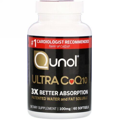 Qunol, ウルトラ CoQ10、100 mg、60ソフトジェル