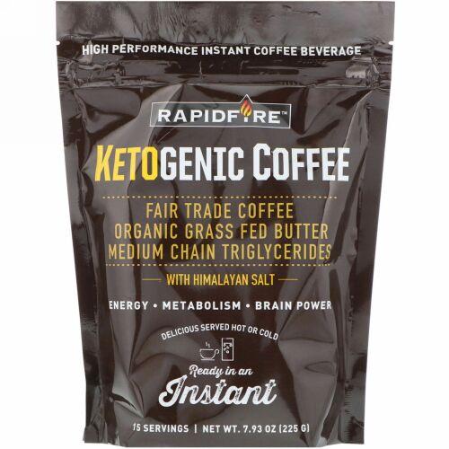 RAPIDFIRE, ケトジェニックコーヒー、7.93オンス (225 g)