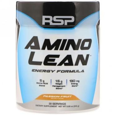 RSP Nutrition, AminoLean(アミノリーン)、エネルギーフォーミュラ、パッションフルーツ、246g(8.68oz) (Discontinued Item)