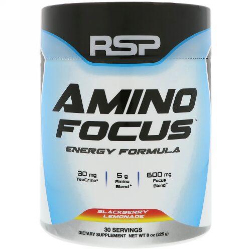 RSP Nutrition, Amino Focus,  Energy Formula, Blackberry Lemonade, 8 oz (225 g) (Discontinued Item)