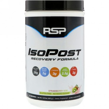 RSP Nutrition, IsoPost、回復フォーミュラ、ストロベリーキウイ、1.8ポンド (820 g) (Discontinued Item)