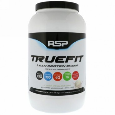 RSP Nutrition, トゥルーフィット、リーンプロテインシェイク、グルメバニラ・ミルクシェイク、1.96 lbs (893 g) (Discontinued Item)