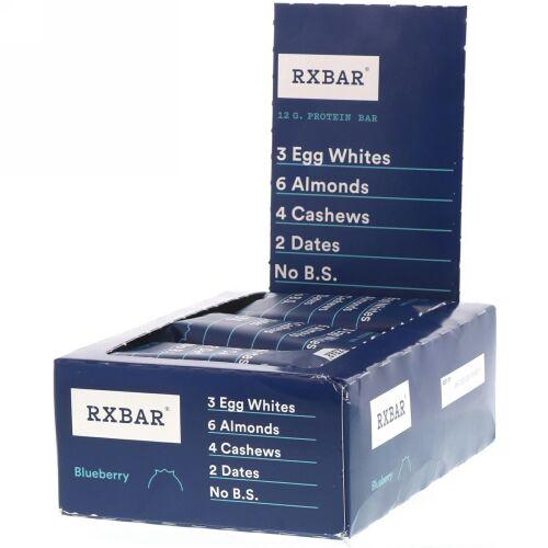 RXBAR, Protein Bar, Blueberry, 12 Bars, 1.83 oz (52 g) Each