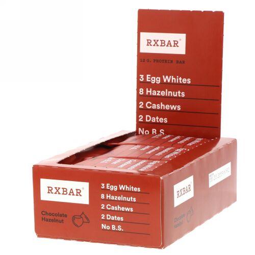 RXBAR, Protein Bar, Chocolate Hazelnut, 12 Bars, 1.83 oz (52 g) Each (Discontinued Item)