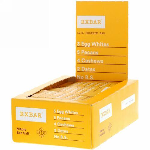 RXBAR, Protein Bar, Maple Sea Salt, 12 Bars, 1.83 oz (52 g) Each (Discontinued Item)