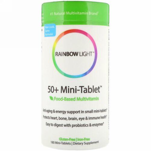Rainbow Light, 50+ Mini-Tab、エイジ・ディフェンス・フォーミュラ、180 錠