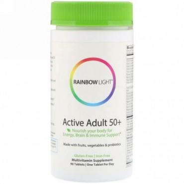 Rainbow Light, アクティブアダルト50+、90錠