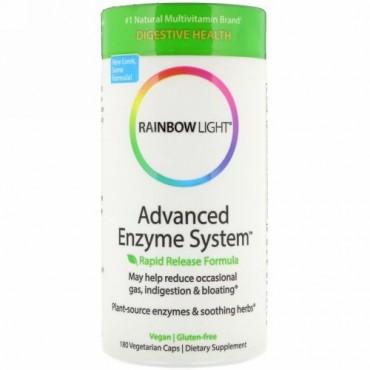 Rainbow Light, 先進的な酵素システム、ラピッドリリースフォーミュラ、180ベジタリアンカプセル