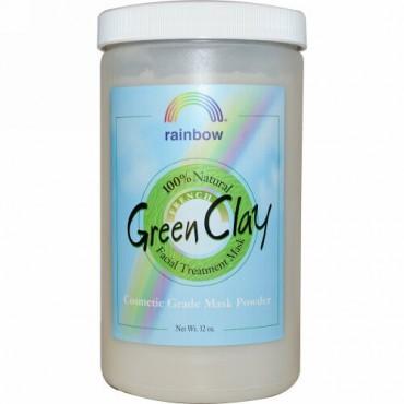 Rainbow Research, フレンチ・グリーンクレイ, フェイシャルトリートメントマスクパウダー, 32 オンス (Discontinued Item)