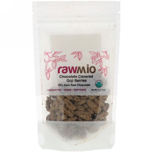 Rawmio, Organic Chocolate Covered Goji Berries,  2 oz (57 g) (Discontinued Item)