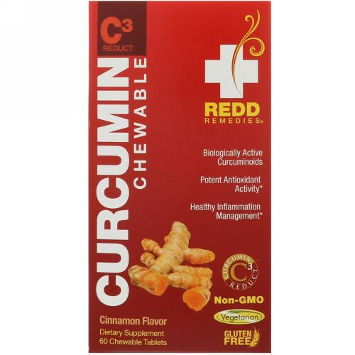 Redd Remedies, Curcumin C3 Reduct, 60 Chewable Tablets (Discontinued Item)