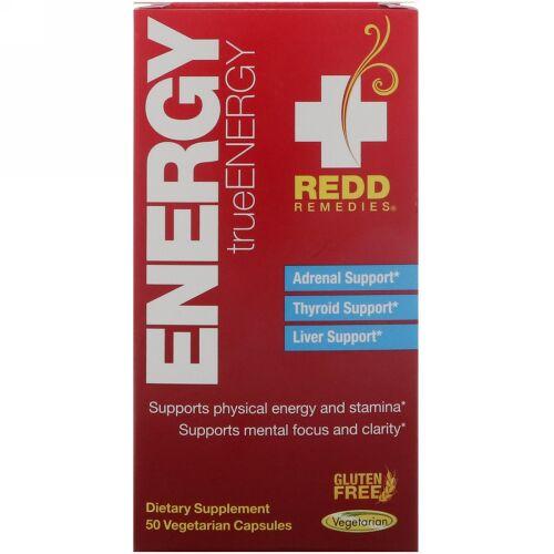 Redd Remedies, エナジー、トゥルーエナジー、植物性カプセル50粒 (Discontinued Item)