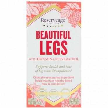 ReserveAge Nutrition, Beautiful Legs with Diosmin & Resveratrol, 30 Veggie Capsules