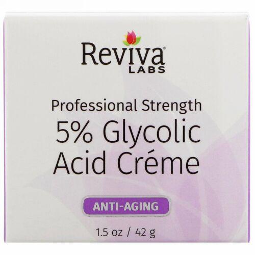 Reviva Labs, 5%グリコール酸クリーム、エイジングケア、1.5オンス (42 g) (Discontinued Item)