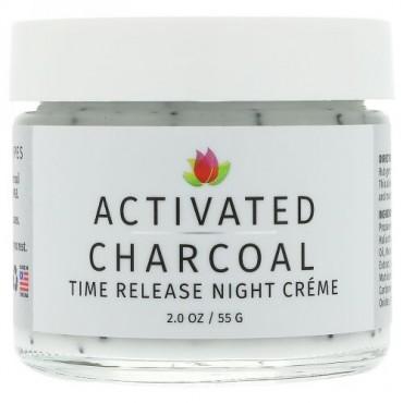 Reviva Labs, 活性炭、タイムリリース(持続放出)ナイトクリーム、2 oz (55 g) (Discontinued Item)