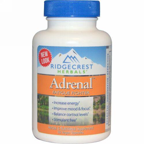 RidgeCrest Herbals, Adrenal, Fatigue Fighter, 60 Veggie Caps