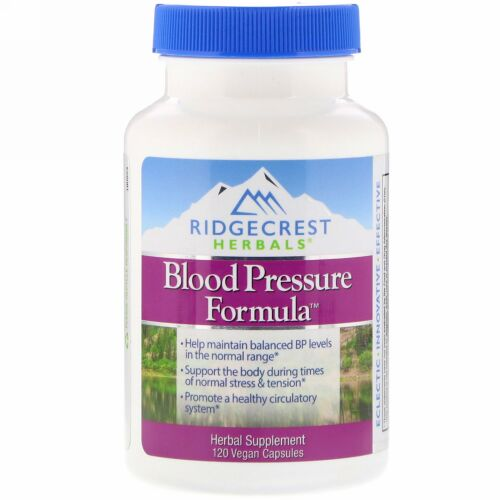RidgeCrest Herbals, 血圧フォーミュラ, 120粒(ベジタリアンカプセル)