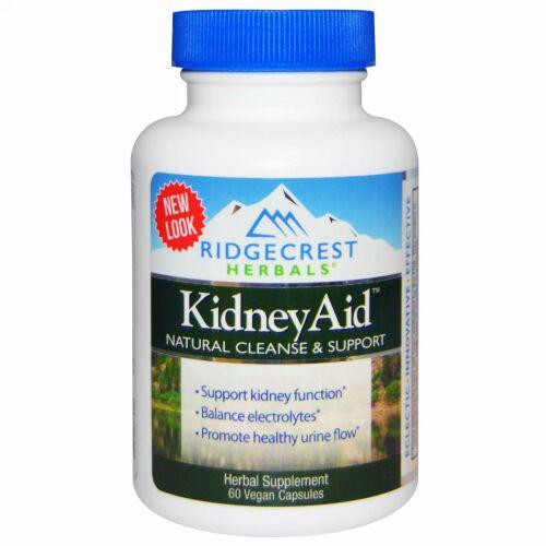 RidgeCrest Herbals, Kidney Aid, 60 Vegan Capsules