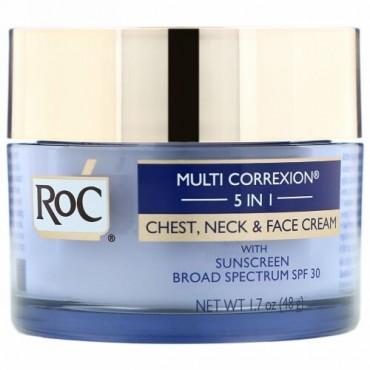 RoC, マルチコレキシン5イン1、胸元・首・顔のクリーム、1.7 oz (48 g)