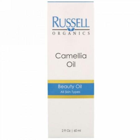 Russell Organics, 椿オイル、2 液量オンス (60 ml) (Discontinued Item)
