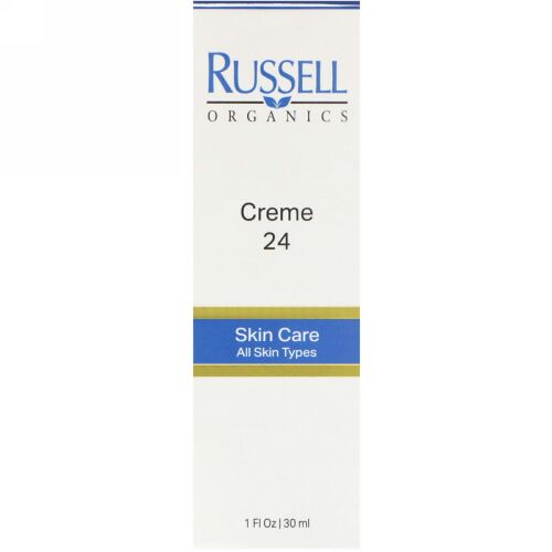 Russell Organics, クリーム 24、 1 fl oz (30 ml) (Discontinued Item)