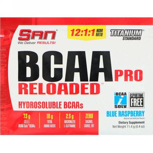 SAN Nutrition, BCAAプロReloaded(リローデッド)、ブルーラズベリー、11.4g(0.4oz) (Discontinued Item)