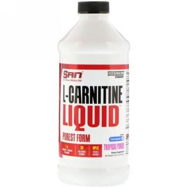 SAN Nutrition, L-カルニチンリキッド、トロピカルパンチ、473ml(16 fl oz) (Discontinued Item)