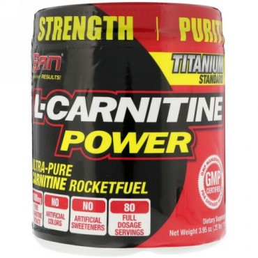 SAN Nutrition, L-カルチニンパワー、112g(3.95 oz) (Discontinued Item)