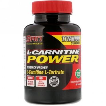 SAN Nutrition, Lカルチニンパウダー、カプセル60錠 (Discontinued Item)