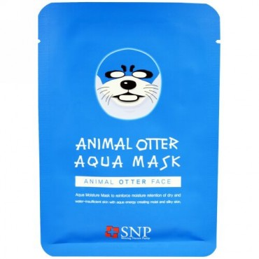 SNP, アニマルオッター アクア マスク、 10 マスク x 各(25 ml) (Discontinued Item)