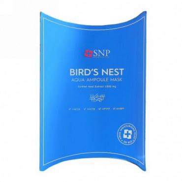 SNP, ツバメの巣アクアアンプルマスク、10枚、各25ml(0.84液量オンス)