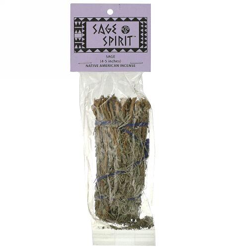Sage Spirit, ネイティブ アメリカン インセンス, セージ, 小 (4-5 インチ), 1 スマッジワンド