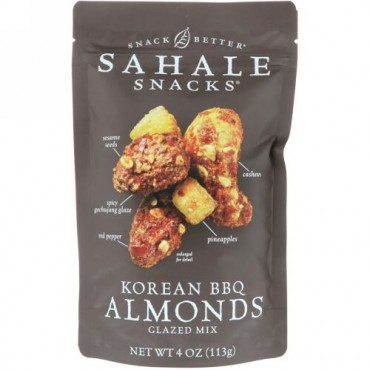 Sahale Snacks, Snack Better, Glazed Mix, Korean BBQ Almonds, 4 oz (113 g) (Discontinued Item)