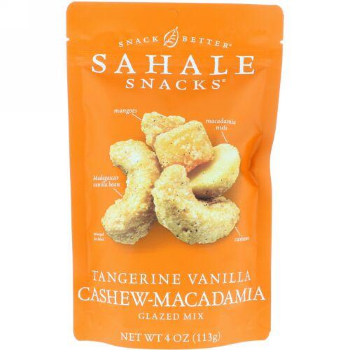 Sahale Snacks, グレイズドミックス、タンジェリンバニラ・カシューマカダミア、4 oz (113 g)
