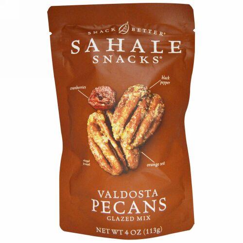 Sahale Snacks, より良いスナック(Snack Better), バルドスタ産ピーカンシロップ浸けミックス(Valdosta Pecans Glazed Mix), 4オンス(113 g)