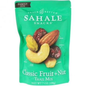 Sahale Snacks, Snack Better, Trail Mix, Classic Fruit + Nut, 7 oz (198 g)