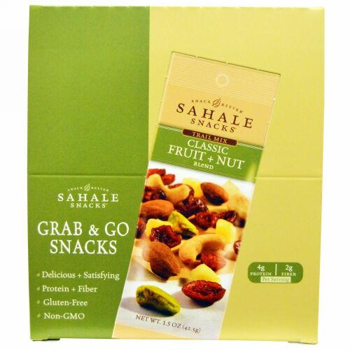 Sahale Snacks, Trail Mix, Classic Fruit + Nut Blend, 9 Packs, 1.5 oz (42,5 g) Each