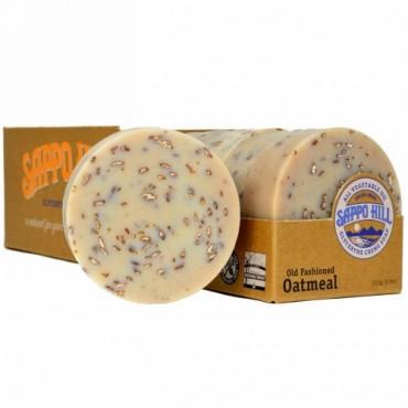 Sappo Hill, グリセリンクリーム石鹸、オールドオートミール、12個入り、1個あたり3.5 oz (100 g)