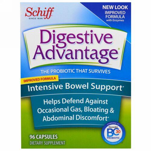 Schiff, Digestive Advantage、インテンシブ・ボウル・サポート、カプセル96 錠