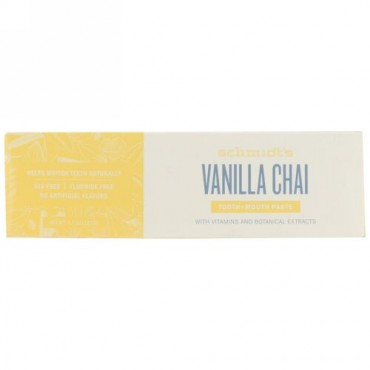 Schmidt's, Tooth + Mouth Paste, Vanilla Chai, 4.7 oz (133 g) (Discontinued Item)